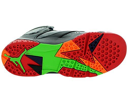 Nike Air Jordan 7 Retro BG Zapatillas de baloncesto, Niños Negro / Rojo / Gris (Blck / Unvrsty Rd-Grn Pls-Cl Gry)