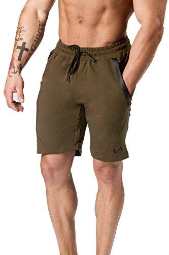 TLF Mens Iron Shorts, Workout Shorts - Military - -