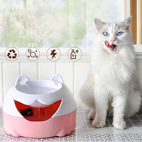 Accessori per Cane o Gatto,Fontanella Fontana Automatico per Gatti Cani Uccelli,Animali Domestici Distributore Acqua USB Bianco Polvere