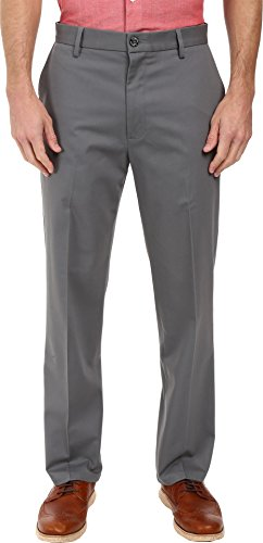 Dockers Men's Signature Khaki D3 Classic Fit Flat Front Burma Grey Stretch 29 32 ()