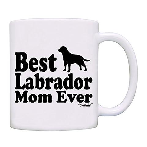 owndis Best Labrador Mom Ever Gift Coffee Mug-0049-White - Labrador Coffee
