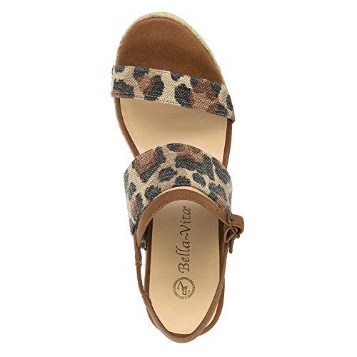 Bella Vita Women's Grayson Espadrille Wedge Sandal, Leopard, 6 N US Leopard