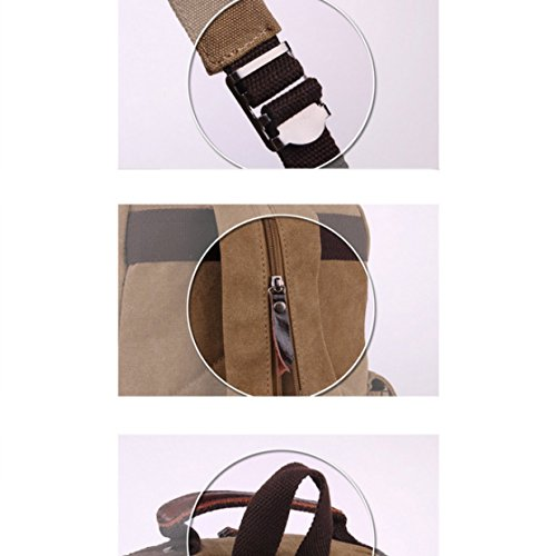 Canvas Bag Shoulder Multi Travel purpose Retro Laidaye Backpack Business Leisure Brown AIEwI