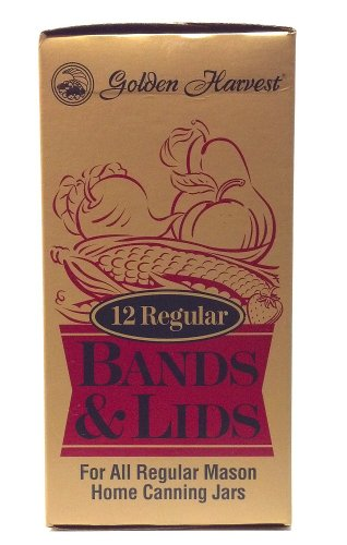 Golden Harvest 12 Regular Bands and Lids for All Regular Mas