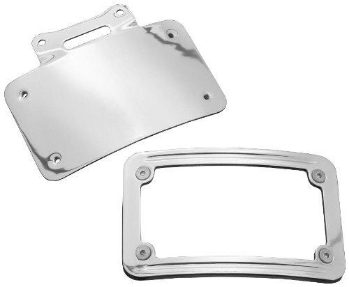 Kuryakyn Curved License Plate Frame (Low-Profile Tombstone Taillight) (Plate Kuryakyn Curved License Frame)