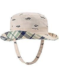 ecc95fbf414cb Baby Sun Hat Double Sides - Toddler Sun Hat UPF 50+ Kids Summer Play Bucket