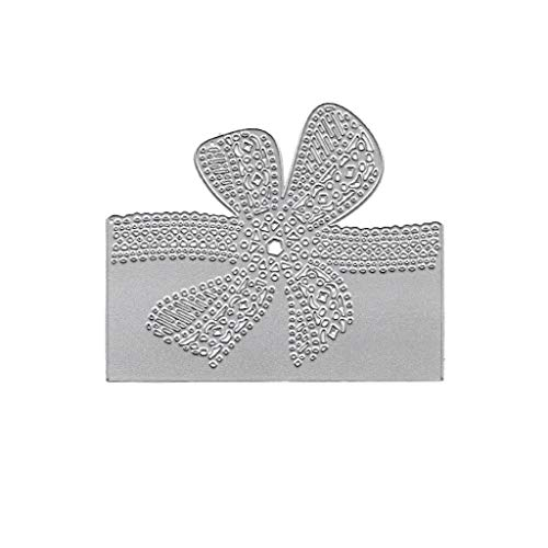 (BUZHI 1 Pc Bow Lace Cutting Dies Metal Lace Embossing Stencils for Valentine Wedding Birthday Invitation Card Paper DIY Craft Decoration )