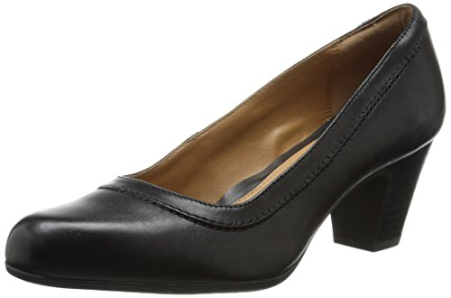 Clarks Women's Weslee Napa Dress Pump, Black, 7.5 M (Napa Pump)
