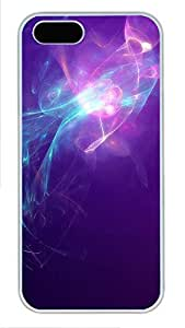 iPhone 5 5S Case Blue violet Light Abstract Art PC Custom iPhone 5 5S Case Cover White