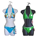 2 Pcs Female Dress Body Mannequin Forms Set (Hips Long) For S-M Sizes - Black And White