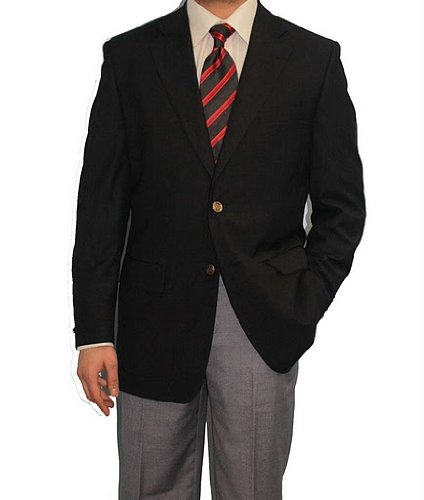 Stylish Men's Two Gold Button Black Sport Jacket Sport Blazer (46 ...