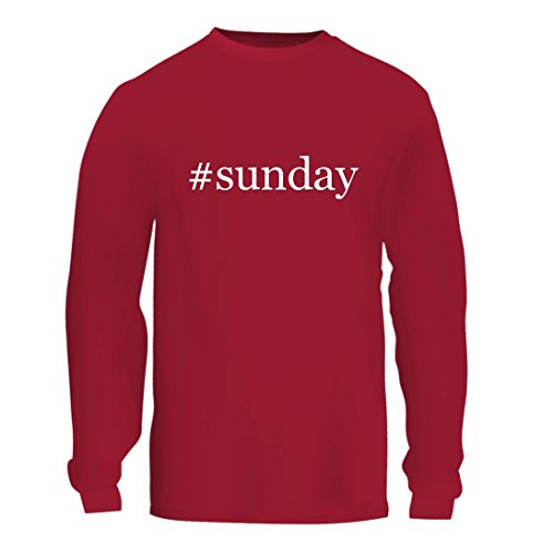 #Sunday - A Nice Hashtag Men's Long Sleeve T-Shirt Shirt, Red, Large