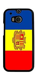 Flag of Andorra Hard Case for HTC ONE M8 ( Sugar Skull ) by mcsharks