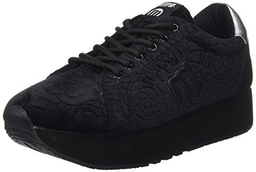 Sneakers MTNG Grabado Negro Velvet Monte Negro Damen Schwarz Selino 66xZpwOE
