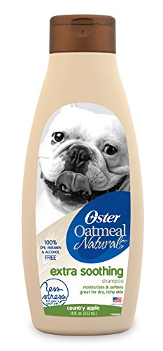 Oster Oatmeal Naturals Extra Soothing Dog Shampoo, Country Apple, 18 Fluid Ounces - Shampoo Oatmeal Dog