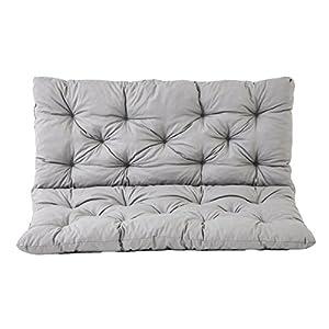 Meerweh 90266 - Cuscino per panca a 2 posti e per Panca Hanko, grigio chiaro, approx. 120 x 98 x 8 cm 1 spesavip