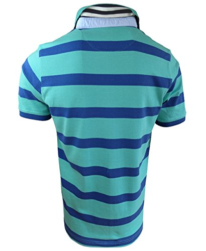 Baileys Polo-Shirt Grand Cruise Blockststreifendessin in grün mittelblau Gr. M bis 4XL 415288-17