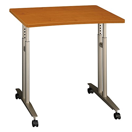 Bush Business Furniture Series C Collection 36W Adjustable Height Mobile Table in Natural Cherry
