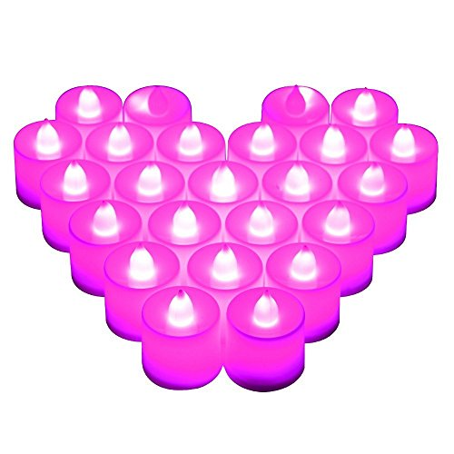 UPC 701599541683, Lampsbuyer Battery-Powered Flameless Candles Votive LED Tealight Cylindrical Candles for Centerpieces, Wedding Decoration, Valentines Day(2 Dozen Pack)