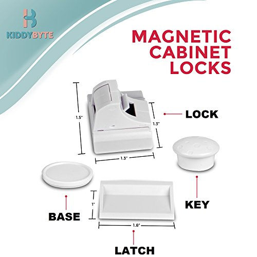 Magnetic Child Safety Cabinet Locks - 20 Lock + 3 Key for Baby Proofing Cabinets, Drawers and Locking Cupboard, Easy Install for Toddler and Childproof with Adhesive Latch, No Tools or Drill by KiddyByte (Image #5)