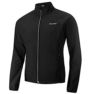 Baleaf Men's Windproof Thermal Softshell Cycling Winter Jacket