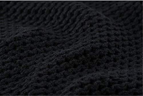 Male Marée À En Cachemire Hommes Ibelive Manteau Revers Wear Noir Laine Cardigan Col Roulé Pull Épais BAwOvwxI