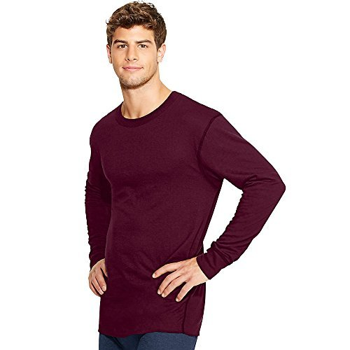Duofold by Champion Thermals Men's Long-Sleeve Base-Layer Shirt_Bordeaux Red_M by Champion