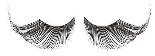 Zinkcolor Black And White False Eyelashes W350 Dance Halloween Costume]()
