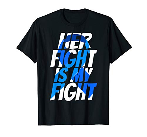 (Colorectal Blue Ribbon Colon Cancer Awareness Shirt for Her)
