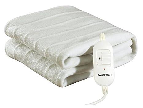 Master CE150 - Manta eléctrica (potencia de 60 W, 2 niveles de calor) color blanco, 150 x 80 cm: Amazon.es: Salud y cuidado personal