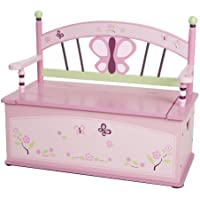Wildkin Sugar Plum Toy Box Bench