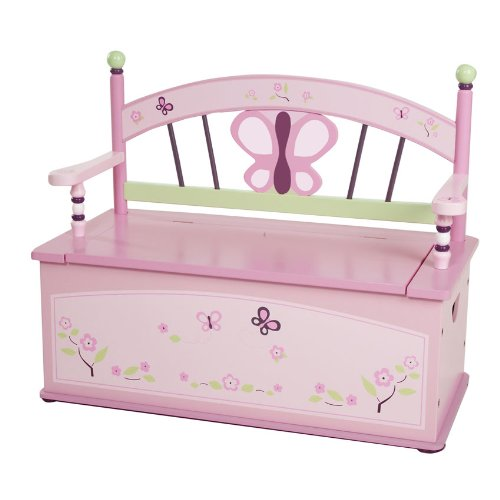 Wildkin Sugar Plum Toy Box Bench - Sugar Plum Bench Seat
