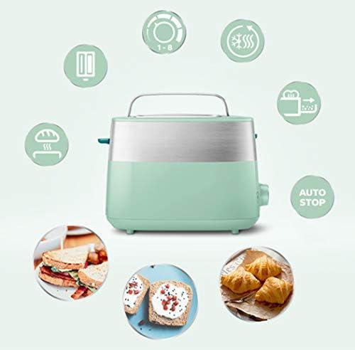 2 tranches Grille-pain Grille-pain Grille-pain automatique Ménage Mini Grille-pain avec 2 fentes en acier inoxydable Large Kitchen