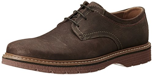 Clarks Newkirk Plain, Brogue Uomo Marrone (Dark Brown Nub)