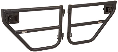 Rugged Ridge 11509.11 Black Textured Rear Tube Doors - Rear Pair for 2007-2018 Jeep Wrangler JKU