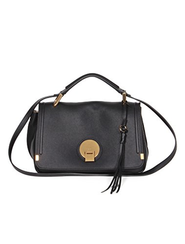 CHLOÉ Black Sac Small Indy Satchel Leather Italy Bag Handbag