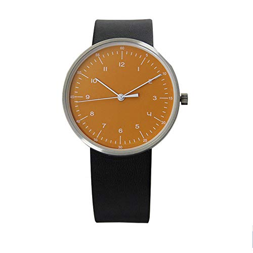 irugh Quartz Watch, British Style Casual Minimalist dial, Leather Strap Watch, 50 Meters Waterproof Simple