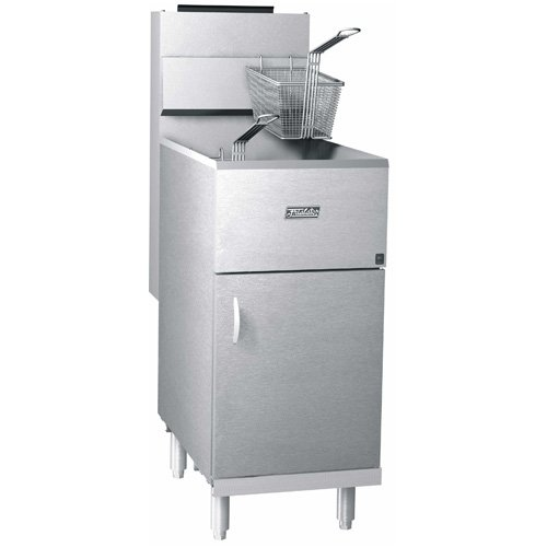Propane Pitco 40D Tube Fired Gas Floor Fryer 40-45 Pound 115,000 BTU