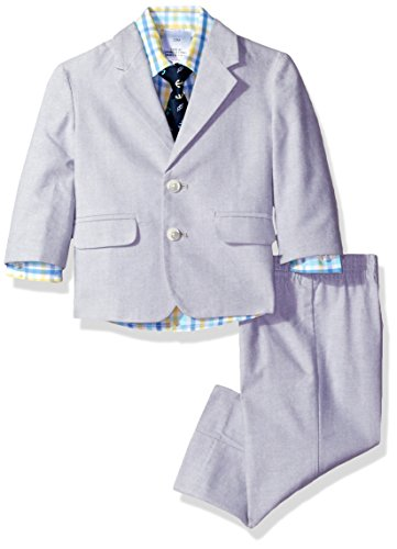 Nautica Baby Boys' Chambray Suit Set, Light Grey, 18 Months