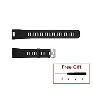 Repalcement Strap for Garmin Vivosmart HR, Meiruos Wristband Watchband for Garmin Vivosmart HR Activity Tracker (Black)