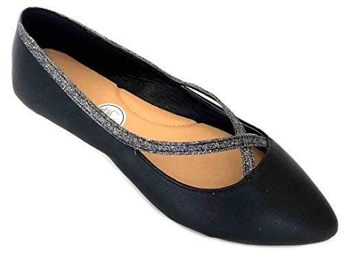 Shoes 18 Womens Classic Round Toe Ballerina Ballet Flat Shoes