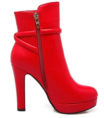WLITTLE Plataforma Mujer Rojo