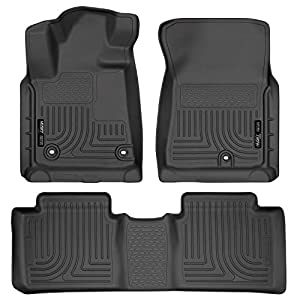 Husky Liners 99561 Fits 2014-20 Toyota Tundra Double Cab Weatherbeater Front & 2nd Seat Floor Mats (Footwell Coverage)