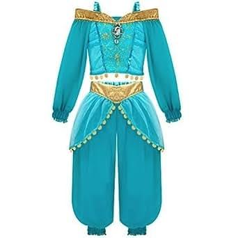 Amazon Com Disney Princess Jasmine Girls Costume Dress Up