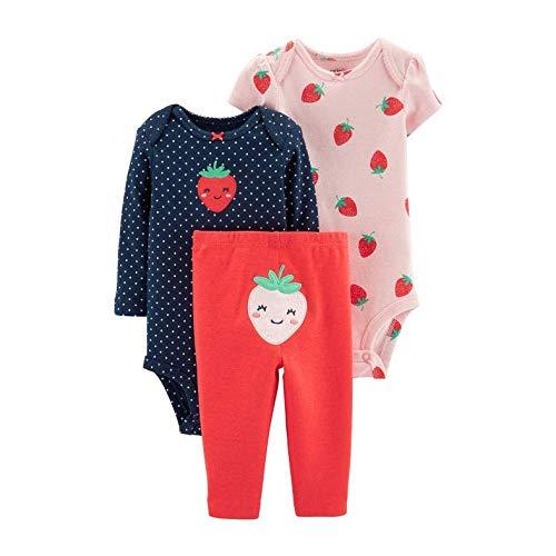 Carter's Baby Girls' 3-Piece Little Character Set (Pink/Navy/Strawberry, 24 Months)