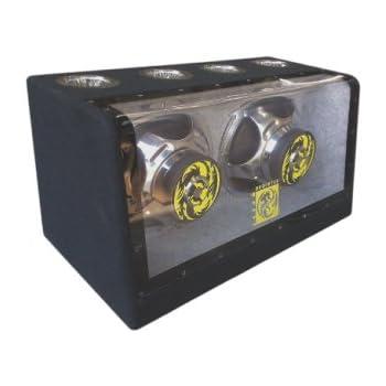 "Audiotek 12"" Speaker Boxes 2000W Dual Bandpass 2000 Watts AT-512FB"