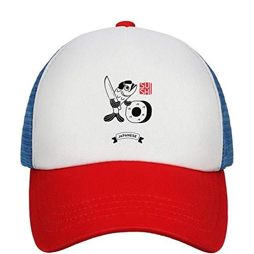 Sushi Vector Logo Fish The Chef Prepares The Sushi Unisex Child Mesh Baseball Cap Quick Dry Snapback Hat Sport Cap