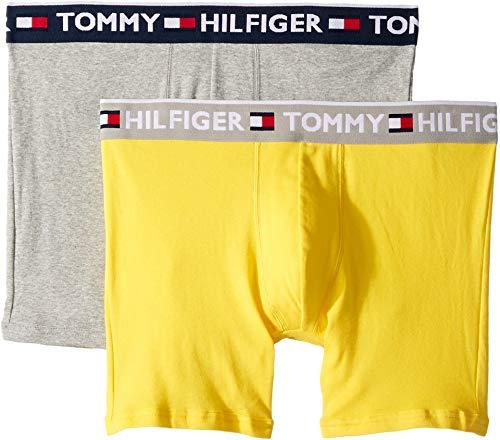 Tommy Hilfiger Men's Bold Cotton 2-Pack Boxer Brief Canyon Sunrise Medium