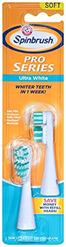 ARM & HAMMER Spinbrush Pro Whitening Replacement Brush Heads Soft, 2 ea (Pack of 4)
