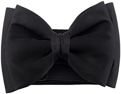 milopon cintura cinturón elástico ancho lazo hebilla cintura plástico Cinturón de entrelazado para Jeans Cinturón V6D310Z Negro